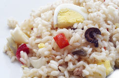 Rice salad isolated .closeup Stock Images