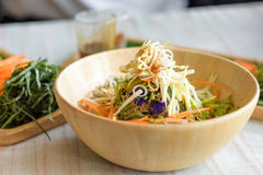 Rice salad set on wood plate, Khao yam, Thai cuisine Stock Photography