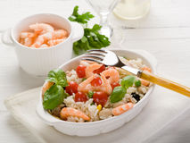 Rice salad with shrimp Royalty Free Stock Photography