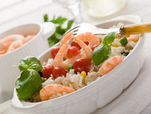 Rice salad with shrimp Royalty Free Stock Images