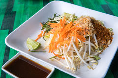 Rice salad of southern Thai cuisine Stock Photo