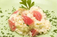 Rice salad with tomato Stock Image