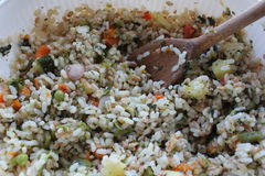 Rice Salad with vegetables Royalty Free Stock Photography