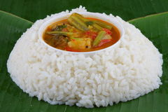 Rice  with sambar . Royalty Free Stock Image