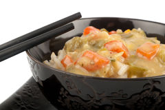 Rice with sauce Stock Images