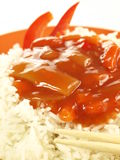 Rice with sauce, closeup Royalty Free Stock Images
