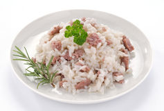 Rice with sausage Royalty Free Stock Photo
