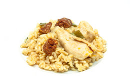 Rice with sausage and chicken Stock Image
