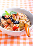 Rice with sauteed vegetables Royalty Free Stock Photo