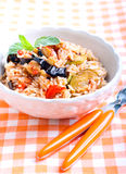 Rice with sauteed vegetables Stock Photography