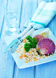 Rice with scallop Royalty Free Stock Images