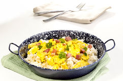 rice with scrambled and bacon Stock Images