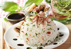 Rice and seafood Royalty Free Stock Photo