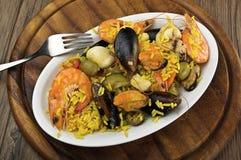 Rice with seafood Stock Photos