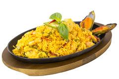 Rice with seafood Royalty Free Stock Photos