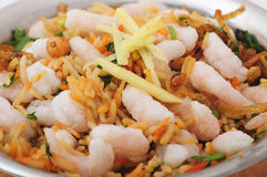 Rice with seafood Stock Photography