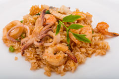 Rice with seafood Royalty Free Stock Photography