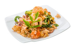 Rice with seafood Royalty Free Stock Photo