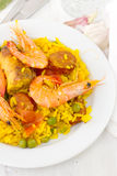 Rice with seafood, meat Royalty Free Stock Photo