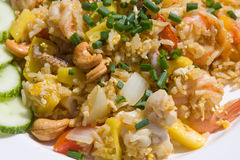 Rice with seafood Royalty Free Stock Image