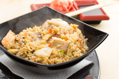 Rice with seafood Stock Image