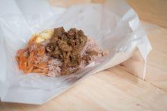 Rice Seasoned with Shrimp Paste (khaao khlook gabpi) Royalty Free Stock Photography