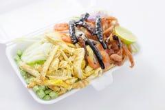 Rice Seasoned with Shrimp Paste Recipe. Thai style stock image