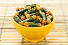 Rice and seaweed crackers Nori Maki Stock Images