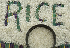 The rice seeds Stock Photography
