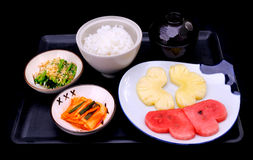 Rice set for teppanyaki manu set. For choose Stock Photography