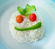 Rice shaped as a face Royalty Free Stock Images
