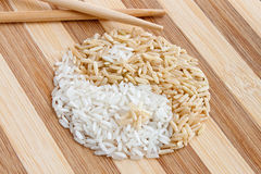 Rice shaped as Yin Yang Symbol Royalty Free Stock Photos