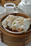 Rice sheet Pork meat Dim sum Royalty Free Stock Images