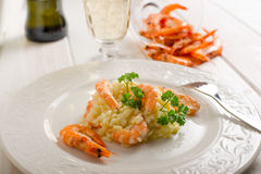 Rice with shrimp Royalty Free Stock Photography