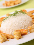 Rice and shrimp Stock Images