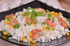 Rice with shrimp Stock Photos