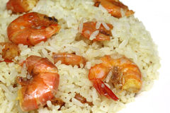 Rice with shrimp Royalty Free Stock Photo