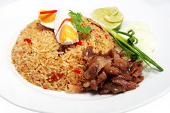 Rice with shrimp paste Stock Photography