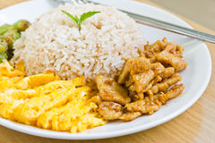 Rice with shrimp paste. Royalty Free Stock Photography