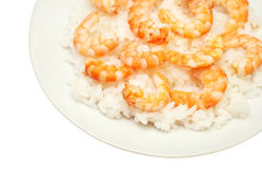 Rice with shrimps Stock Image