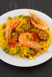 Rice with shrimps, meat Stock Photography