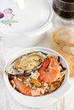 Rice with shrimps and mussels Royalty Free Stock Image