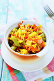 Rice side dish with vegetable mix Stock Images