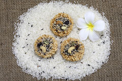 Rice snack with seeds, grains, nuts and fruit Royalty Free Stock Photo