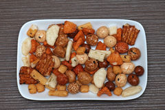 Rice snacks plate Royalty Free Stock Photography