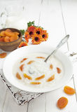 Rice soup with dried apricots Royalty Free Stock Images