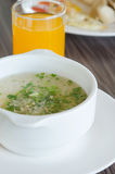 Rice soup and juice Royalty Free Stock Images