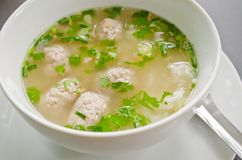Rice soup with mince pork Royalty Free Stock Photo