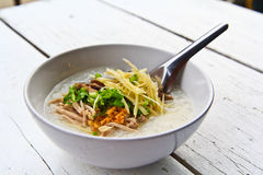 Rice soup morning thailand. Thai food Rice soup morning thailand Royalty Free Stock Photo