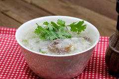 Rice Soup with pork Stock Image